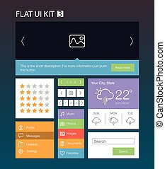 Flat User Interface Kit 3 - Flat User Interface Kit for web...