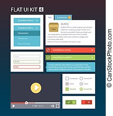 Flat User Interface Kit 4 - Flat User Interface Kit for web...