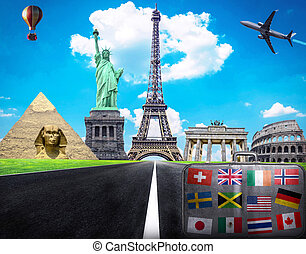 Travel the world conceptual image