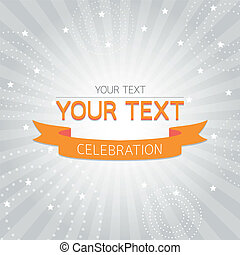 Orange vintage celebration card