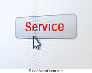 Business concept: Service on digital button background -...