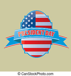 president day - a colored icon with the american flag and...