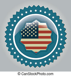president day - a blue icon with some stars and the american...