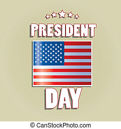 president day - an american flag with some white text in...