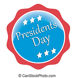 president day - a blue icon with some white text for...