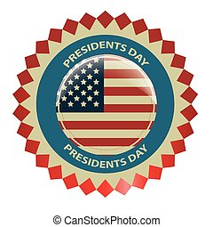 president day - a colored icon with some text and the...