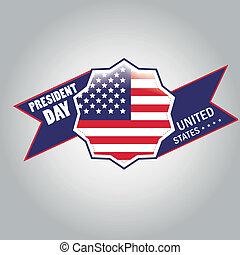president day - a colored icon with the american flag and a...