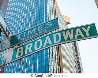 Broadway - famous street sign for the Broadway in manhattan