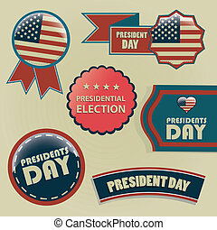president day - a lot of different icons with text and...