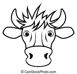 Cow - Vector illustration of the Cow