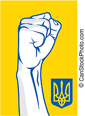 Ukraine fist - Vector illustration of the Ukraine fist