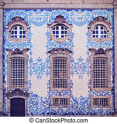 Carmo Church in Porto - Tiled Wall of Carmo Church in Porto,...