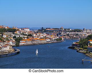 Douro River in Porto - Rio Douro - Douro River in Porto,...