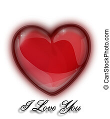 """Heart for a Valentine's Day with inscription """"I love you"""""""