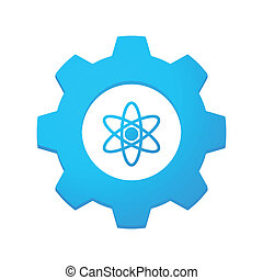 Gear icon - Illustrtion of an isolated gear with an icon