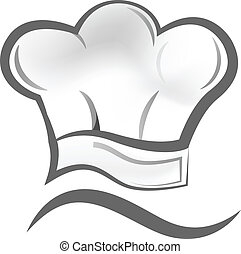 Chef hat logo - Vector of chef hat icon symbol