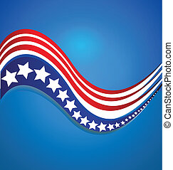 American flag template logo