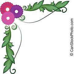 Frame of floral background