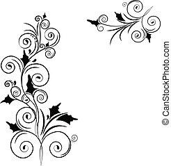 Floral frame design background