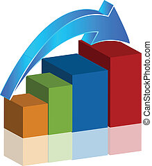 Vector of business bar graph icon