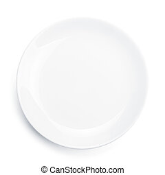 Empty plate Isolated on white background View from above