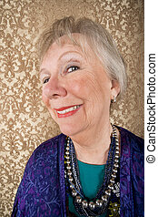 Smiling Senior Woman - Portrait of smiling senior woman in...