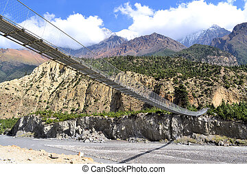 Suspensed Bridge, himalayas Nepal - A suspensed swing Bridge...