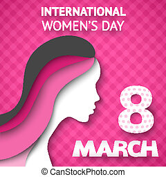 Happy Women's Day greeting or gift card
