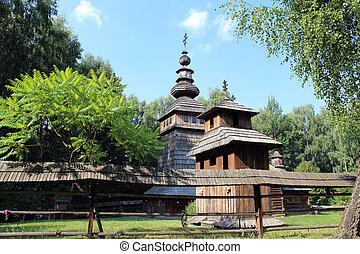 nice wooden church in village of Western Ukraine - nice...