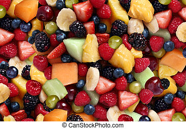 Fruit Salad - Fruit salad background featuring fresh berries...
