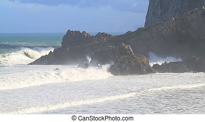 Waves and rocks 1 - Waves and rocks,giant waves