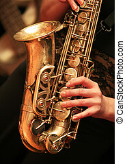 saxofone, jogador