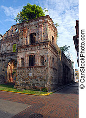 Cathedral in old Panama city - Colonial Cathedral Senora de...