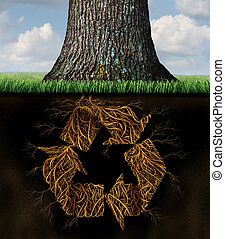 Tree Recycle Symbol - Tree recycle symbol concept as...