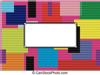 Background with mosaic frame,vector