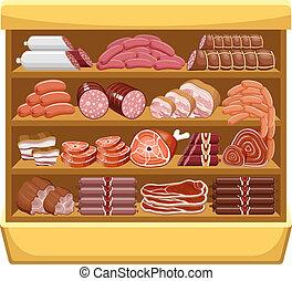 Meat market.