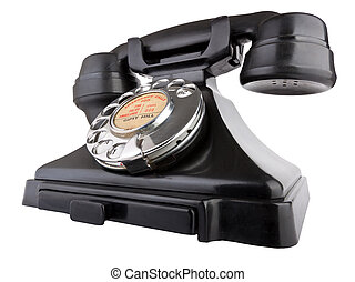 Giant Old Telephone - Old bakelite telephone. GPO 200...