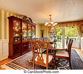 Antique style dining room