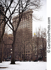 Flatiron Building - View of historic Flatiron Building from...