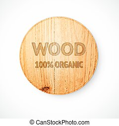Radial shaped plate made of wood Vector illustration