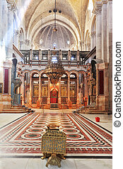 The Holy Sepulcher in Jerusalem - Huge beautifully decorated...