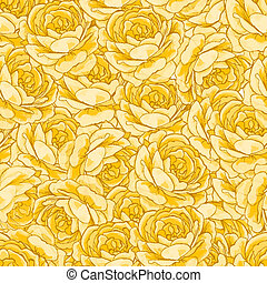 Roses, floral background, seamless pattern.