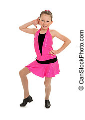 Sassy Tap Dancing Kid - A Sassy Young Tap Dancing Kid Poses...