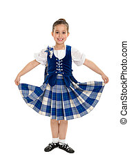 Smiling Irish Highland Dancer - A Smiling Irish Highland...