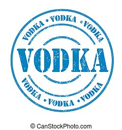 Vodka stamp - Vodka grunge rubber stamp on white, vector...