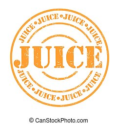 Juice stamp - Juice grunge rubber stamp on white, vector...