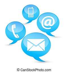 Contact Us Web Icons Clouds - Web and Internet contact us...