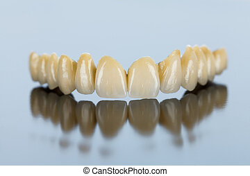 Ceramic teeth - dental bridge - Beautiful ceramic teeth made...