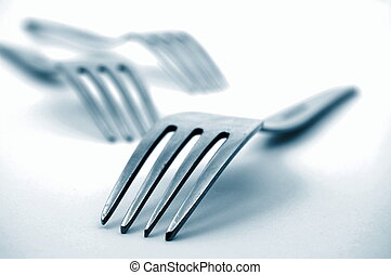 fork in the kitchen - abstract fork background as a food...