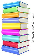 Books. - Pile of Colorful Books.